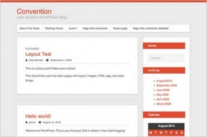 Convention is a free WordPress Theme
