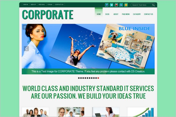D5 CORPORATE LITE is a free WordPress Theme