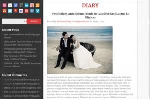 Diary is a free WordPress Theme by MyThemeShop