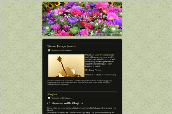Growing Things is a free WordPress Theme