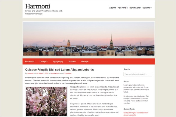 Harmoni is a free WordPress Theme
