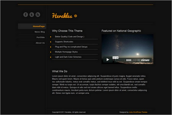 Herakles is a free WordPress Theme
