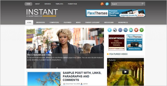 Instant is a free WordPress Theme