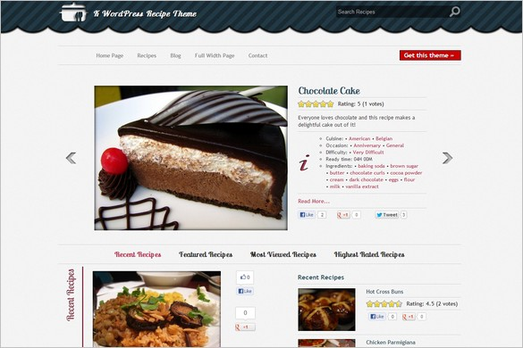 K WordPress Recipe Theme is a free WordPress Theme