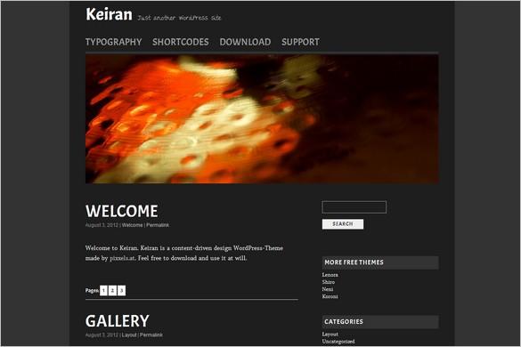 Keiran is a free WordPress Theme