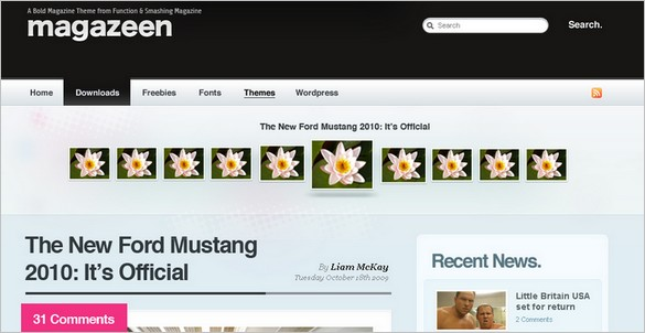 Magazeen is a free WordPress Theme