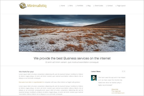 Minimalistiq is a free WordPress Theme by WPLegion