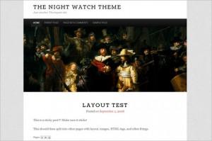 The Night Watch is a free WordPress Theme