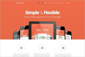 Nimble WordPress Theme from ElegantThemes