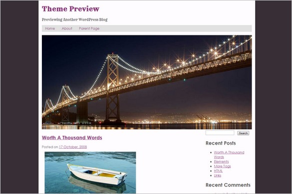 San Francisco is a free WordPress Theme