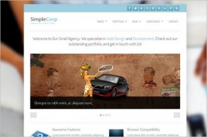 SimpleCorp is a free Portfolio WordPress Theme by Site5