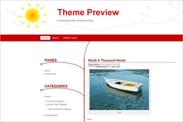 WarmWinter is a free WordPress Theme