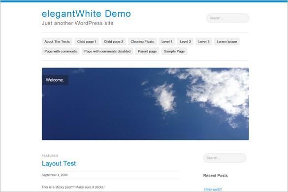 elegantWhite is a free WordPress Theme