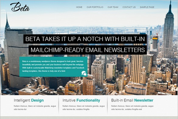 Beta is a responsive WordPress Theme