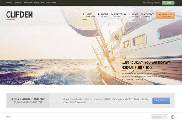 Clifden is a responsive business WordPress Theme