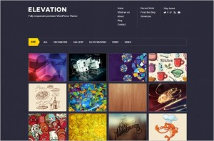 Elevation is a portfolio WordPress Theme