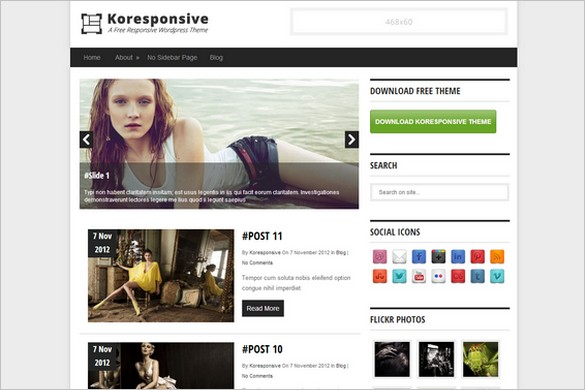 Koresponsiv is a free Magazine WordPress Theme by Kore