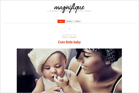 Magnifique is a free WordPress Theme by cssigniter