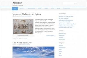 Mosaic is a free WordPress Theme