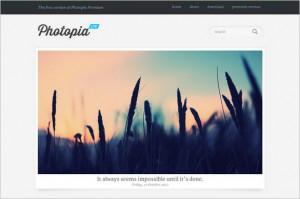 Photopia Lite is a free GPL WordPress Theme