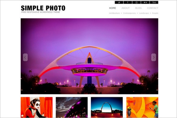 Simple Photo is a free WordPress Theme by Dessign.net
