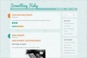 Something Fishy is a free WordPress Theme