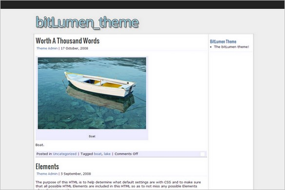 bitLumen is a free WordPress Theme