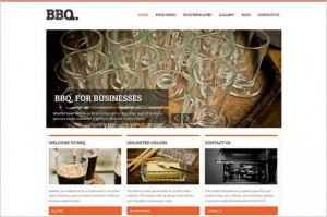 BBQ is a WordPress Theme for Restaurants and Cafés