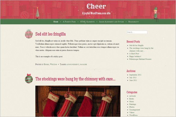 Cheer is a free WordPress Theme