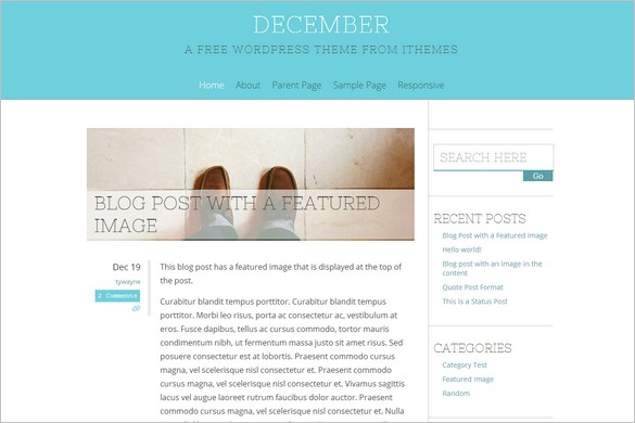 December is a free seasonal WordPress Theme