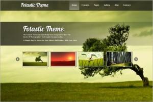 Fotastic is a WordPress Photography Theme