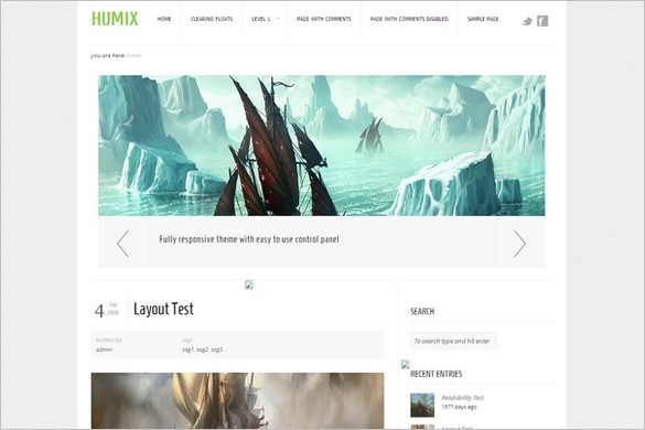 HUMIX is a free WordPress Theme by Theme4Press