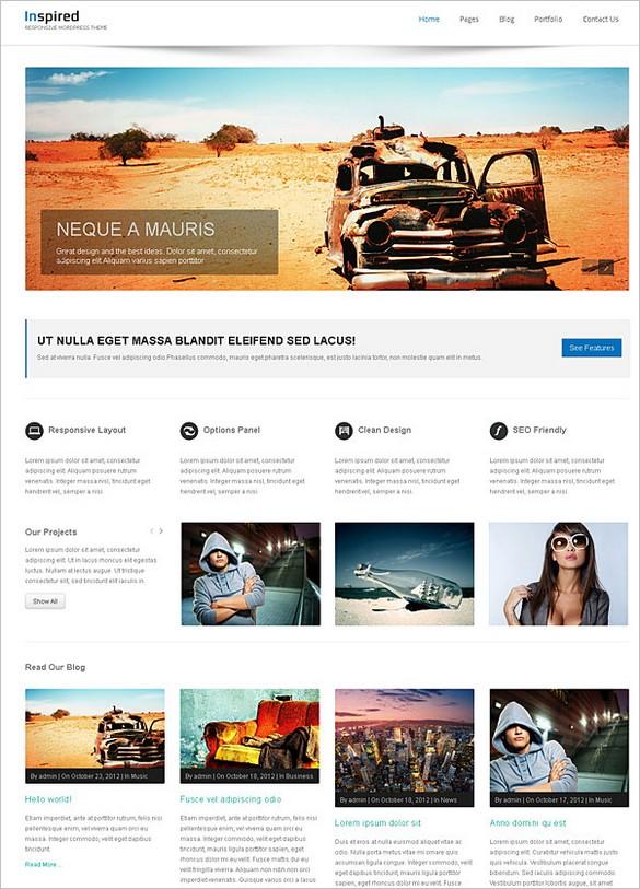 Inspired is a stylish responsive WordPress theme