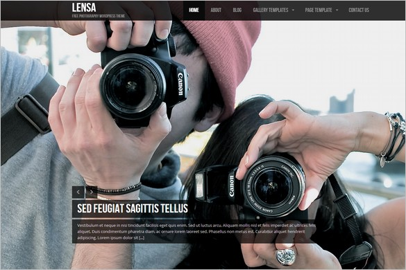 Lensa is a free full screen WordPress Theme by ColorLabs