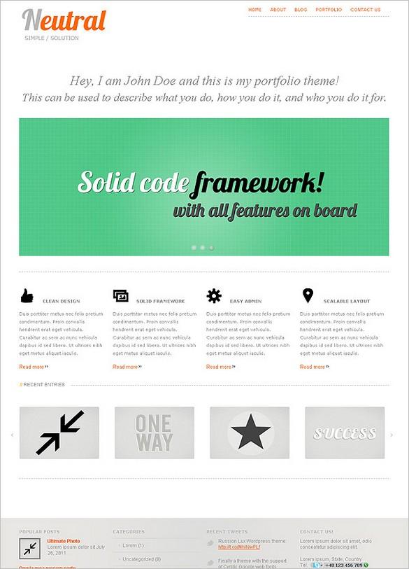 Neutral is a clean Premium WordPress Theme