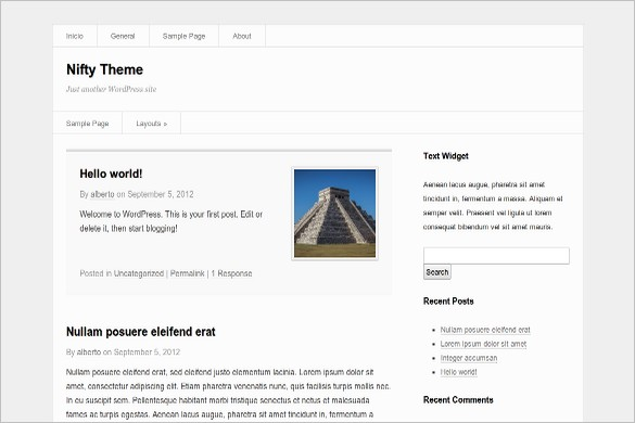 Nifty is a free WordPress Theme