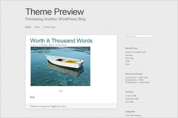 SemPress is a free WordPress Theme