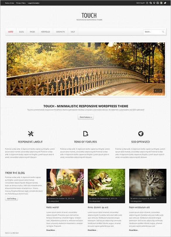 Touch is a responsive WordPress Theme