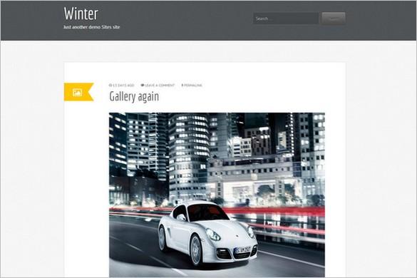 Winter is a free WordPress Theme by web2feel
