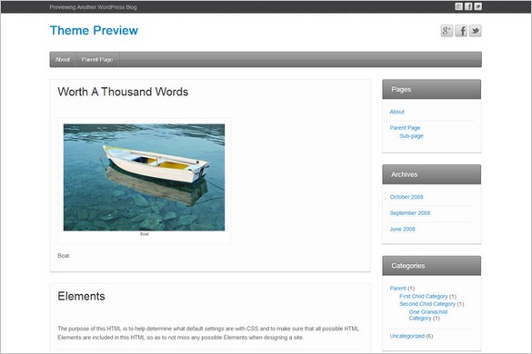 iFeature is a free WordPress Theme