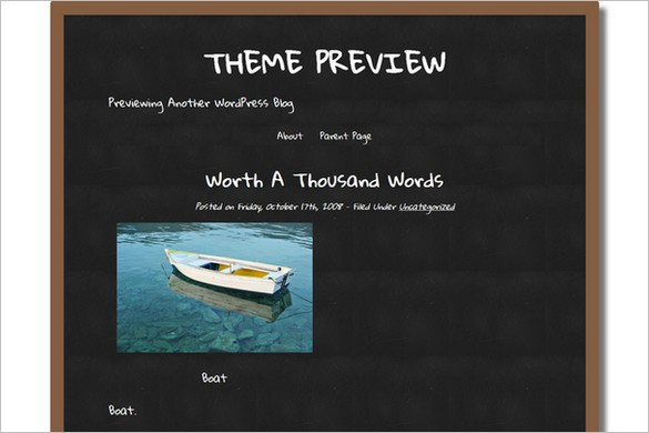 Classic ChalkBoard is a free WordPress Theme