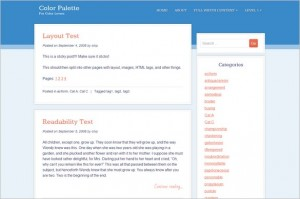 Color Palette is a free WordPress Theme