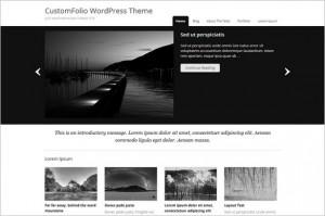 CustomFolio is a free WordPress Theme
