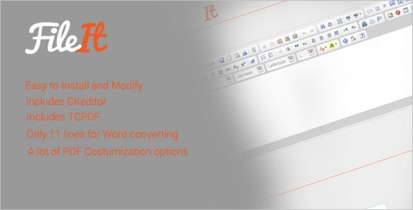 FileIt - HTML to Word/PDF Script