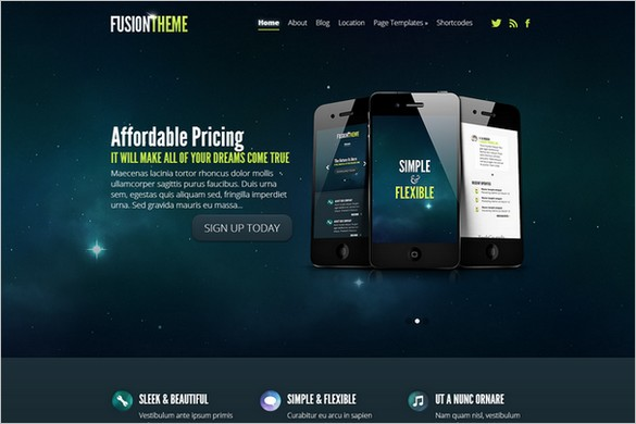 Fusion is a WordPress Theme from Elegant Themes
