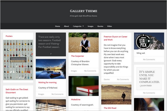 Gallery is a free WordPress Theme by UpThemes