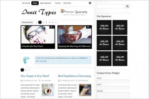 Inuit Types is a WordPress Theme from BizzThemes