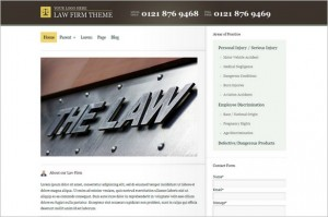 Law Firm is a WordPress Theme from BizzThemes