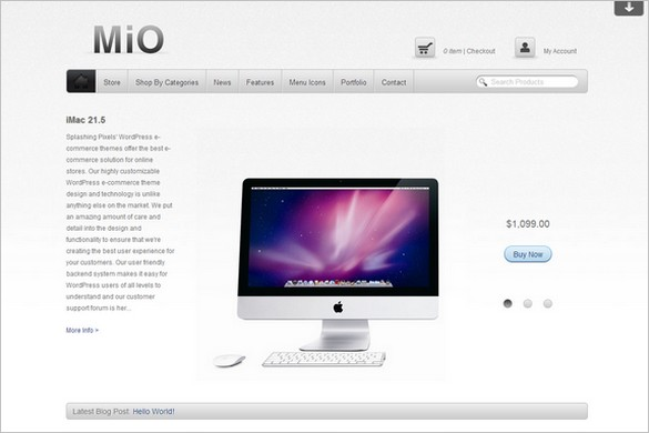 Mio is afree e-Commerce WordPress theme