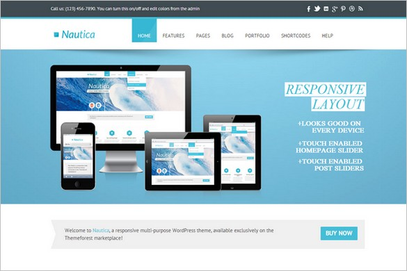 Nautica - A Multi-Purpose Responsive WordPress Theme